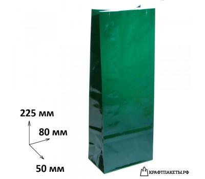 Пакет для чая и кофе 200 гр., 230х80х50 цвет Зеленый