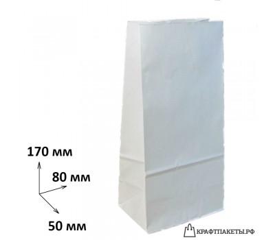 Пакет 170х80х50 мм., белый, пл. 65 гр.