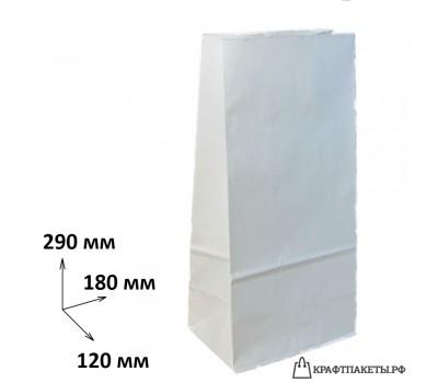 Пакет 290х180х120 мм., белый, пл. 65 гр.