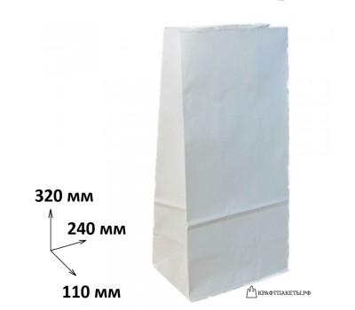 Пакет 320х240х110 мм., белый, пл. 80 гр.
