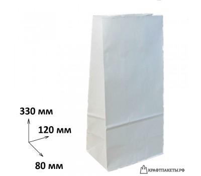 Пакет 330х120х80 мм., белый, пл. 65 гр.